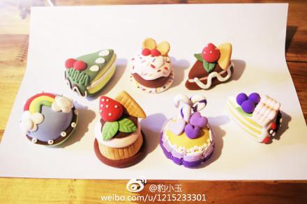 超轻粘土-小蛋糕|手办/原型|手工艺|豹小玉