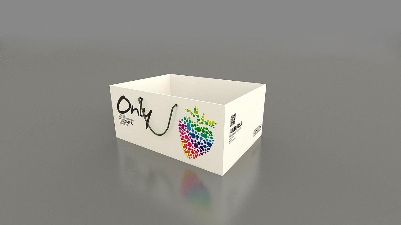 草莓盒子包装设计      图片
