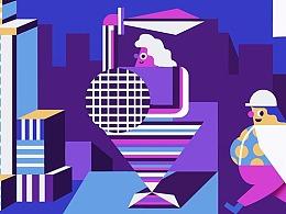 Karol Banach 为三星产品推广创作插画