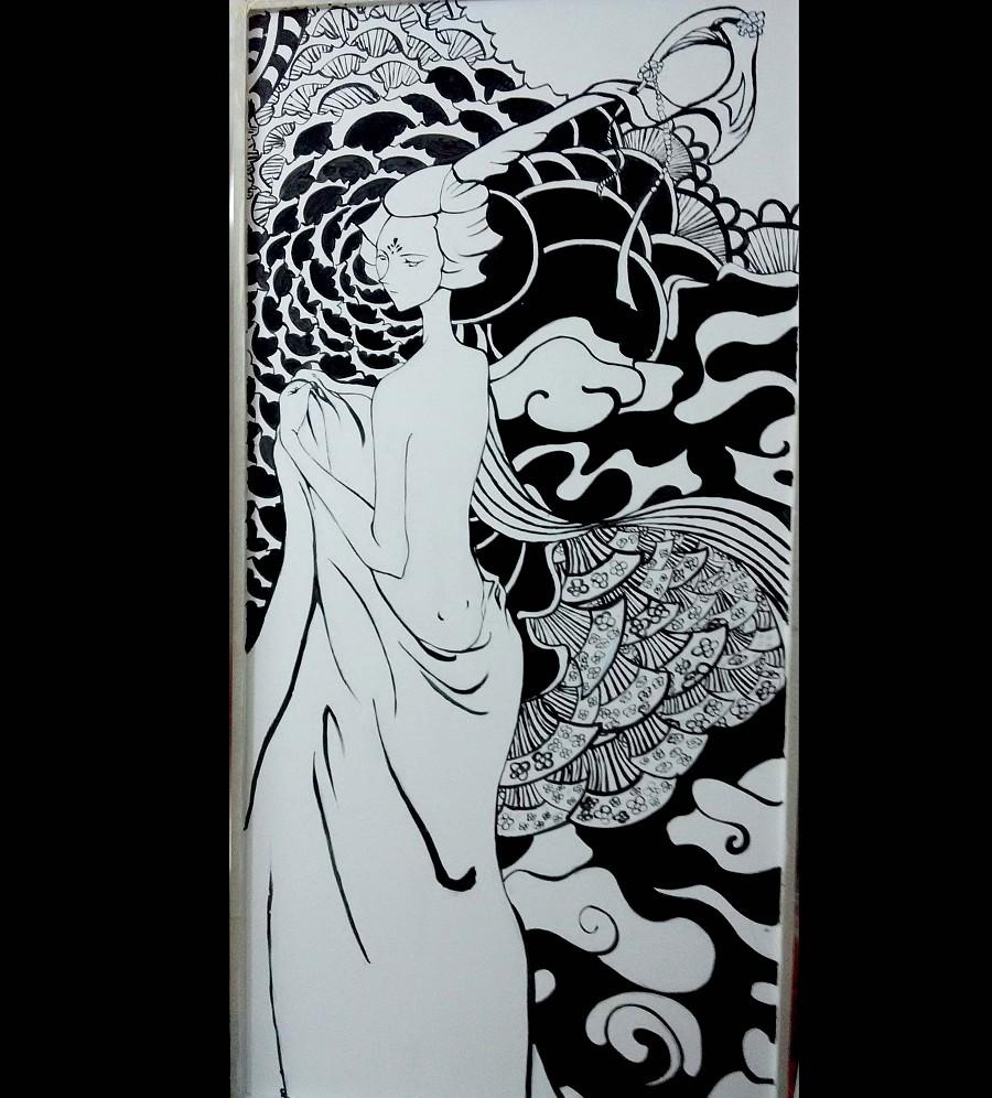 川美艺术手绘墙画,目前主要经营:大型餐饮酒