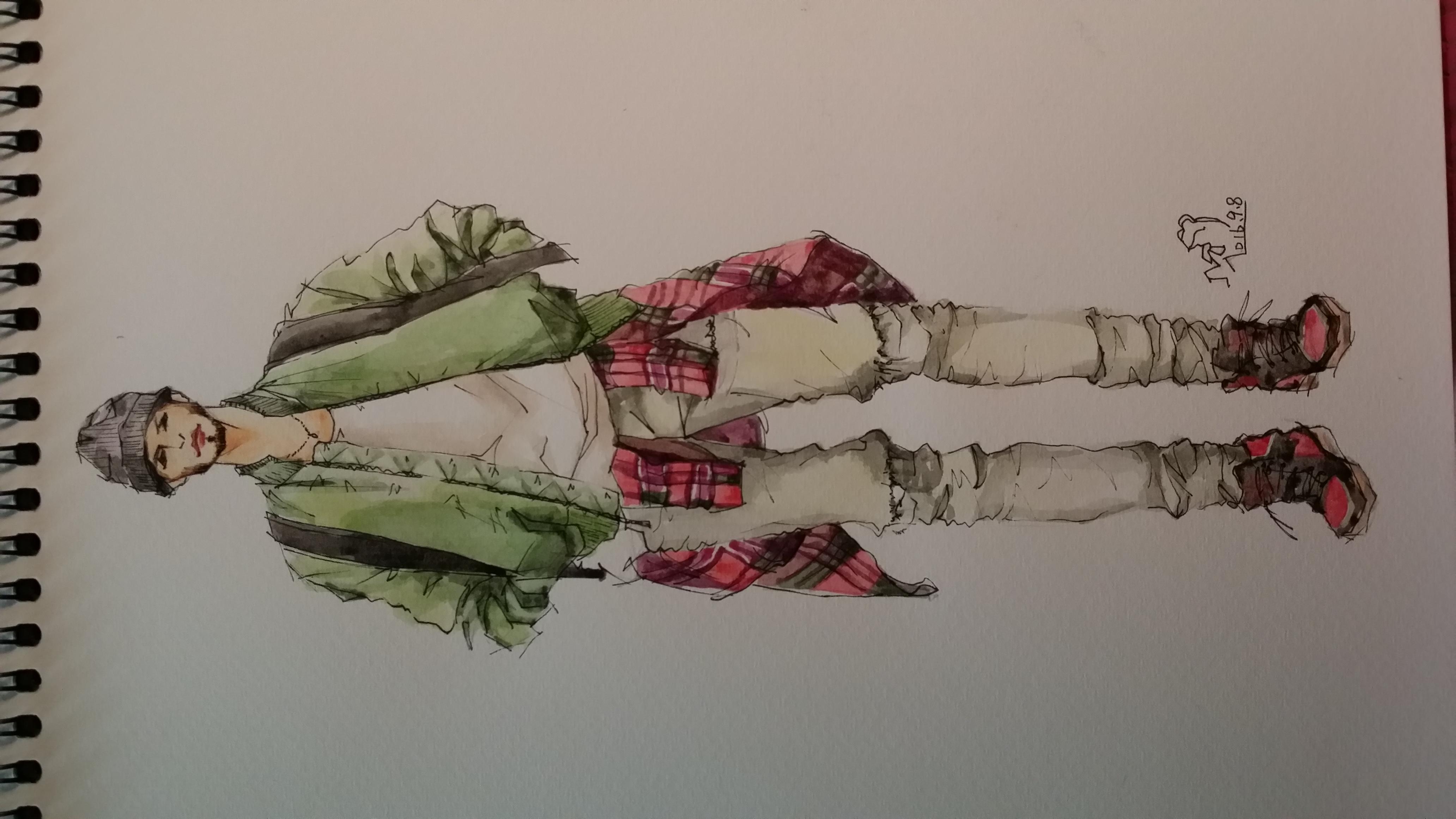 手绘时装插画(男装)|服装|休闲/流行服饰|箐蛙 - 原创