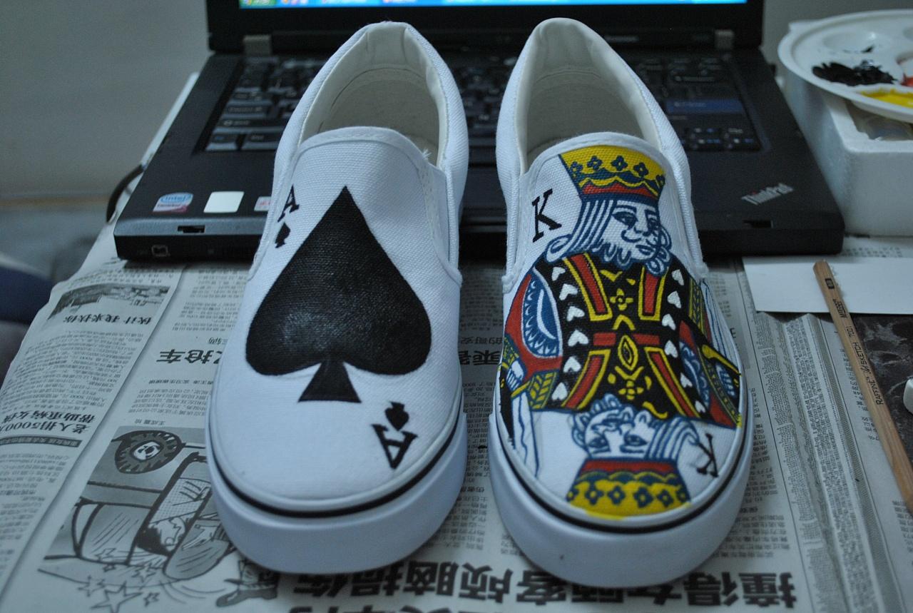 手绘扑克鞋