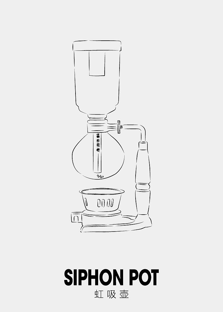 咖啡器具线稿