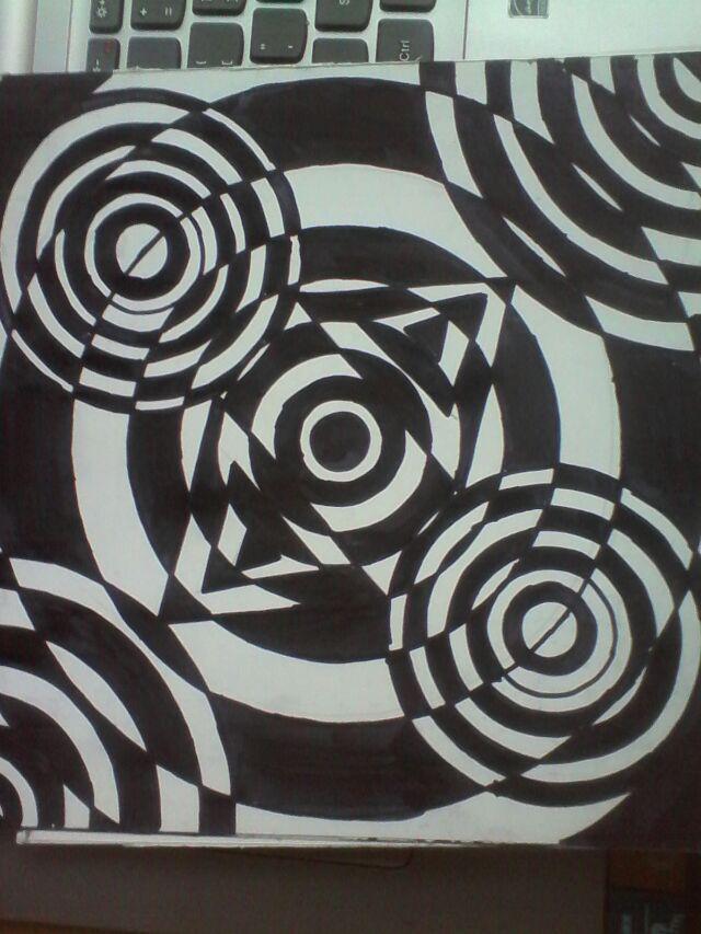 黑白平面构成传统纹饰-传统纹饰图案-渐变平面构成图