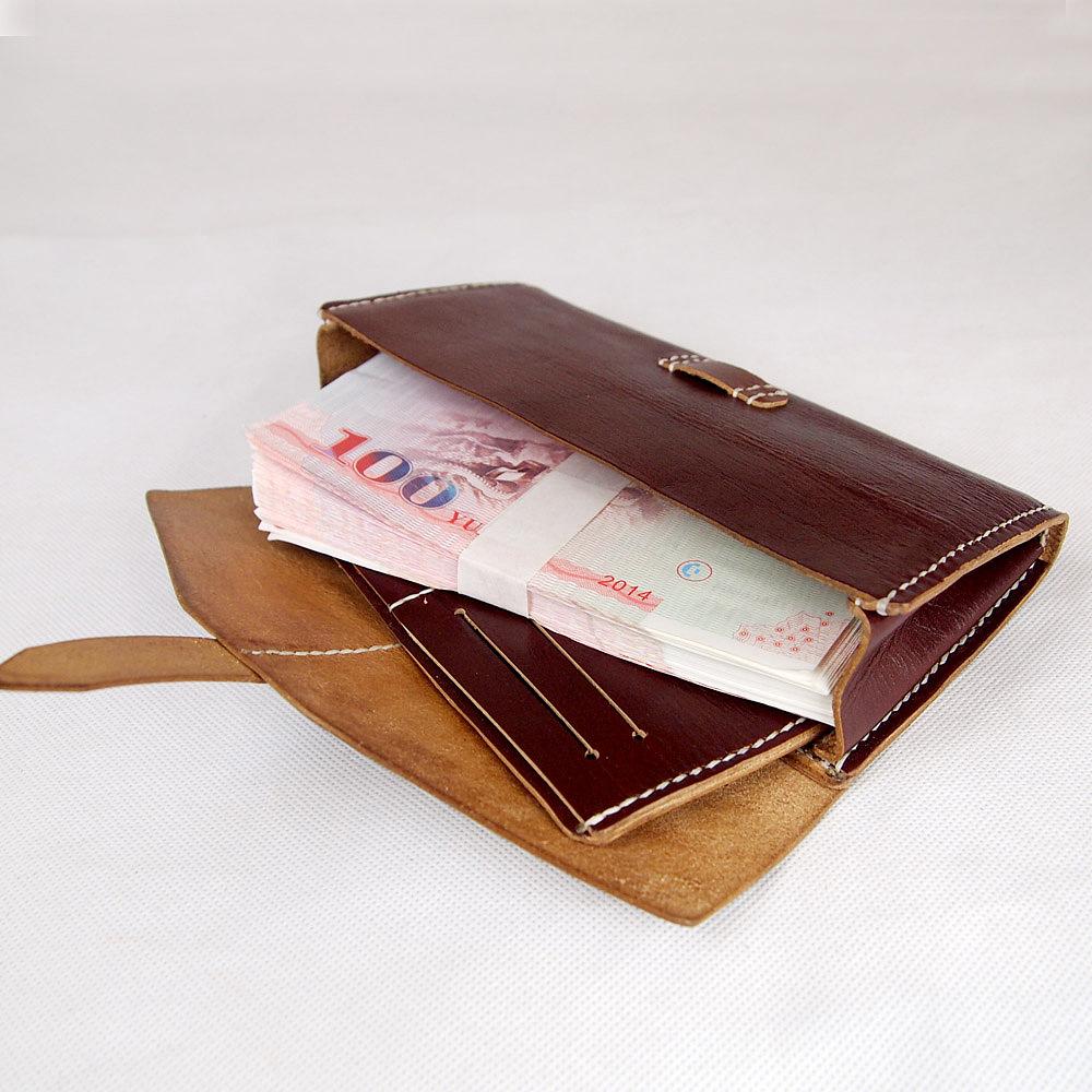 给朋友新做长款钱包,纯手工制作,手工越来越好了