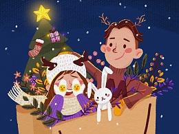 【插画-板绘】圣诞习作