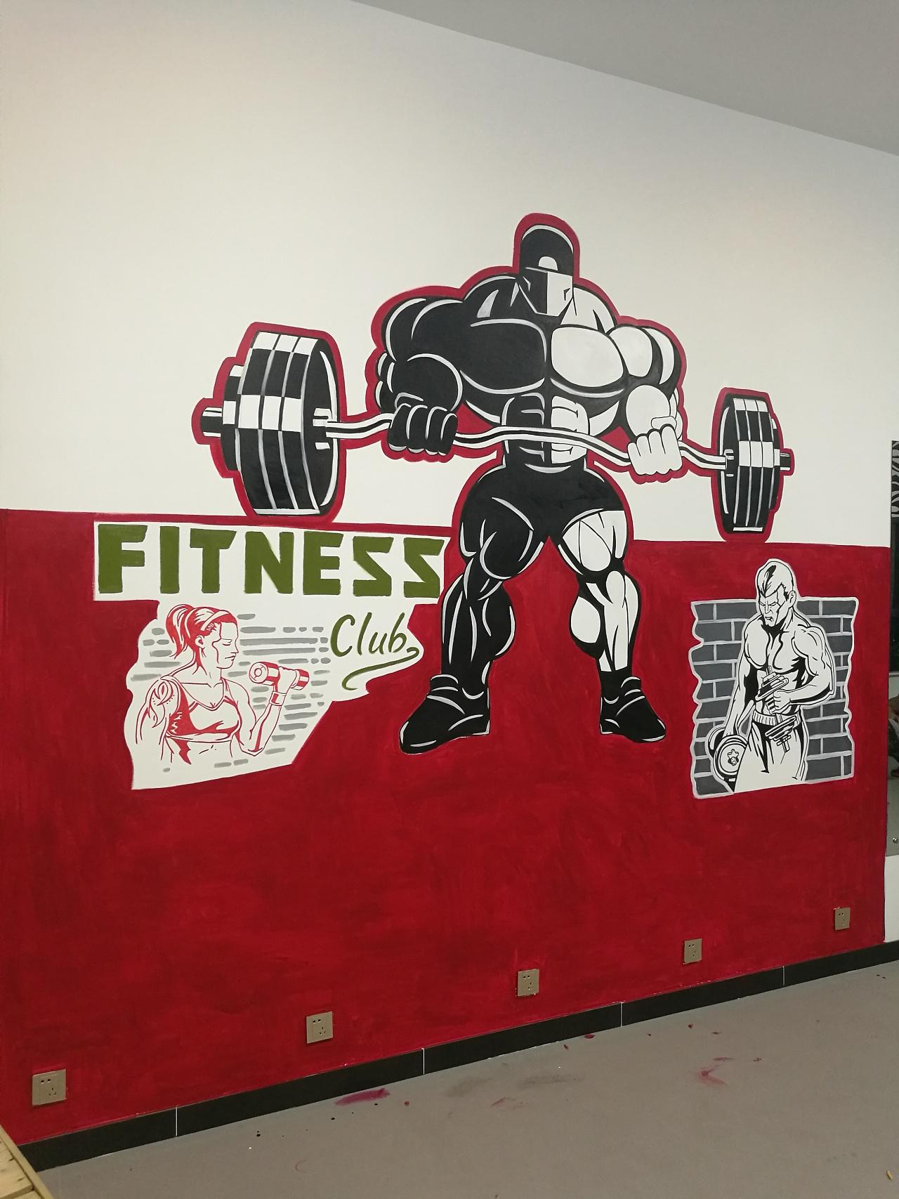 私人健身房手绘