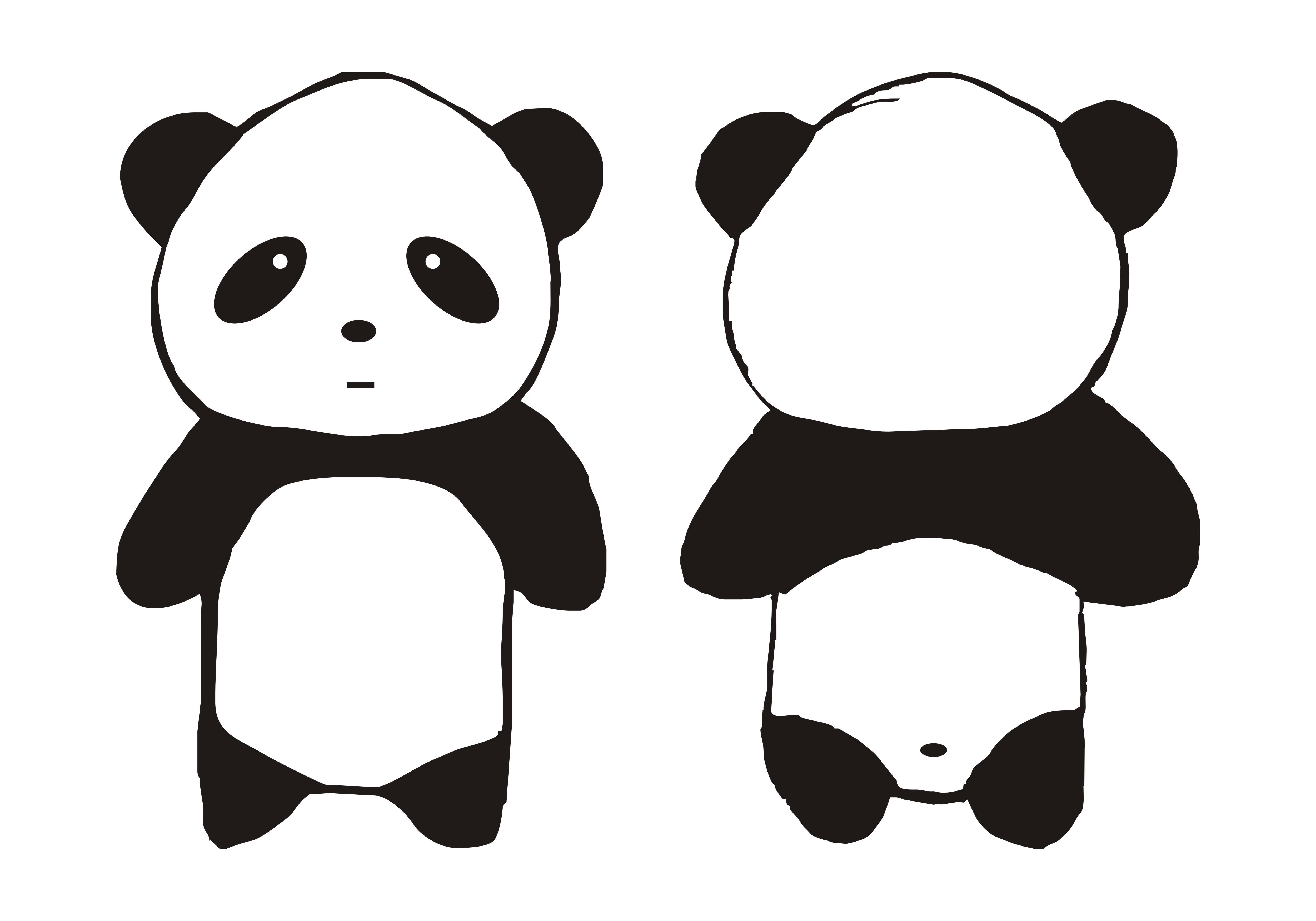 熊猫班旗设计图案大全