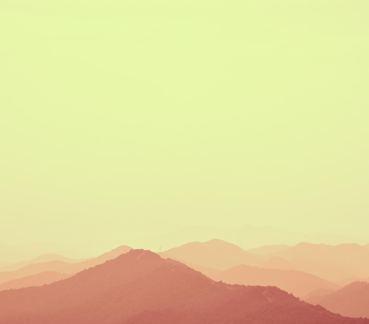 马克笔手绘远山