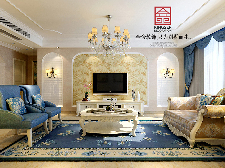 0-欧式风格-金舍装饰-石家庄装修|室内设计|空环宇瀚亚建筑设计咨询图片