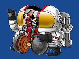 招财宇航员