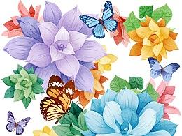 Wall Sticker:Flowers