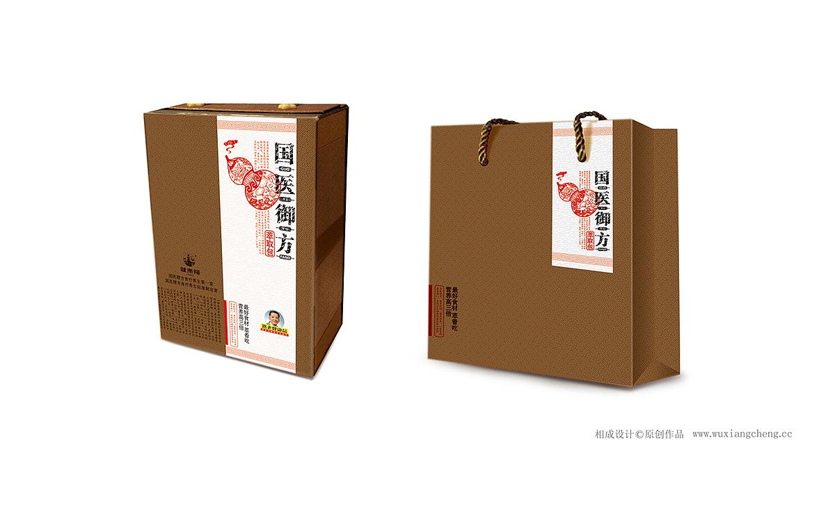 健来福品牌产品——国医御方高端礼盒包装设计图片