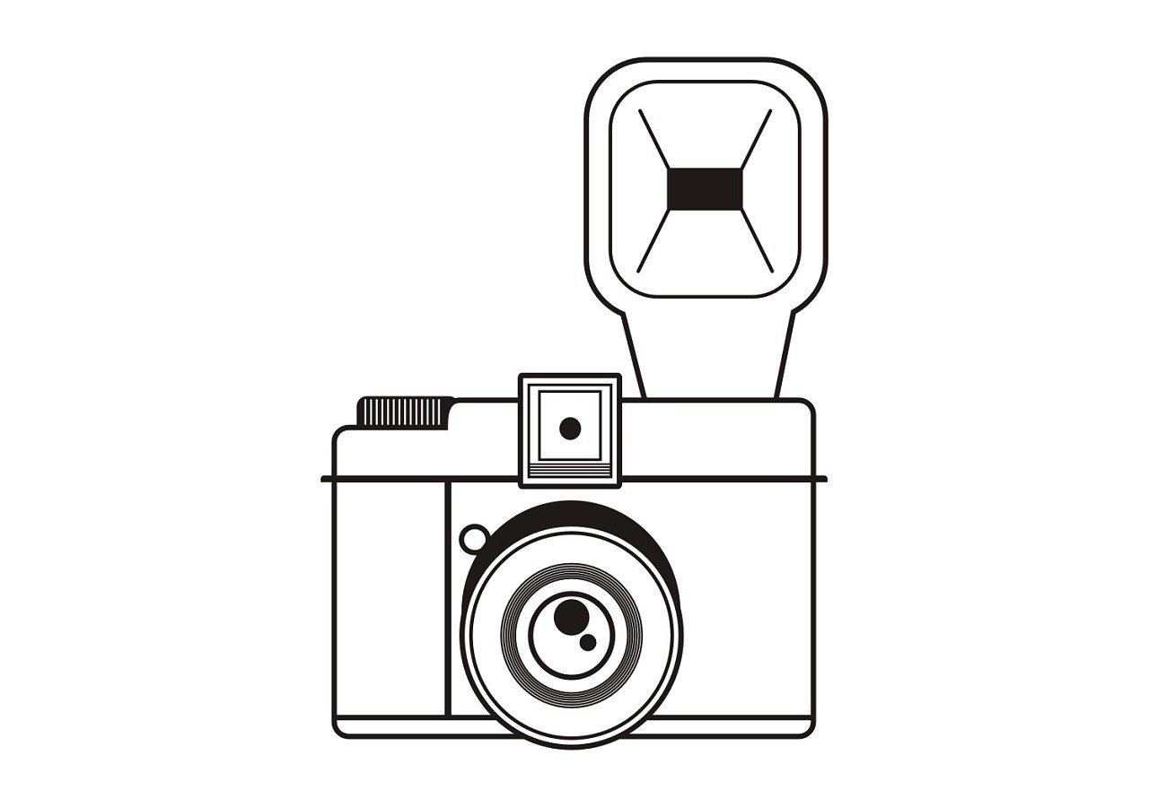相机简笔画头像