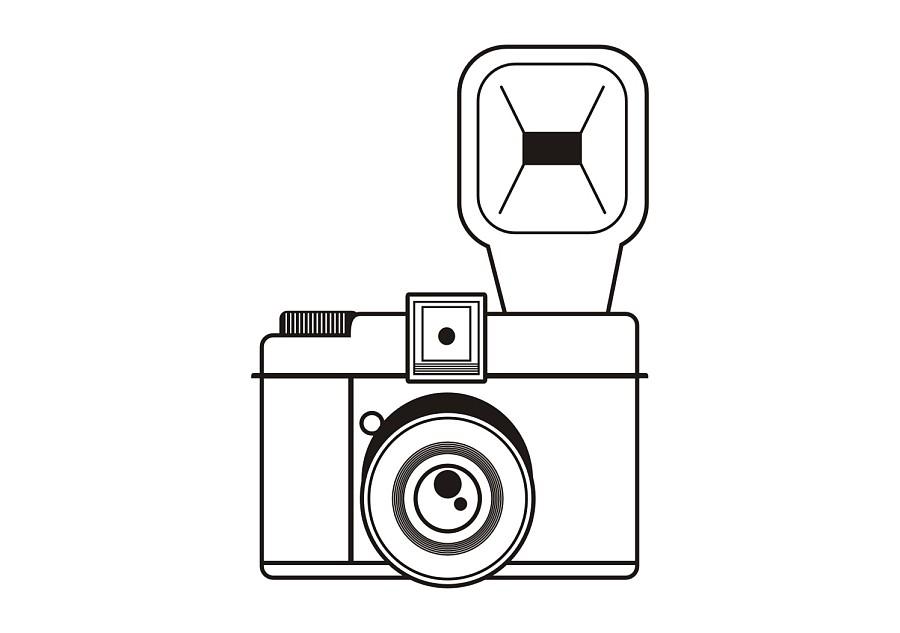 手绘相机图片简单