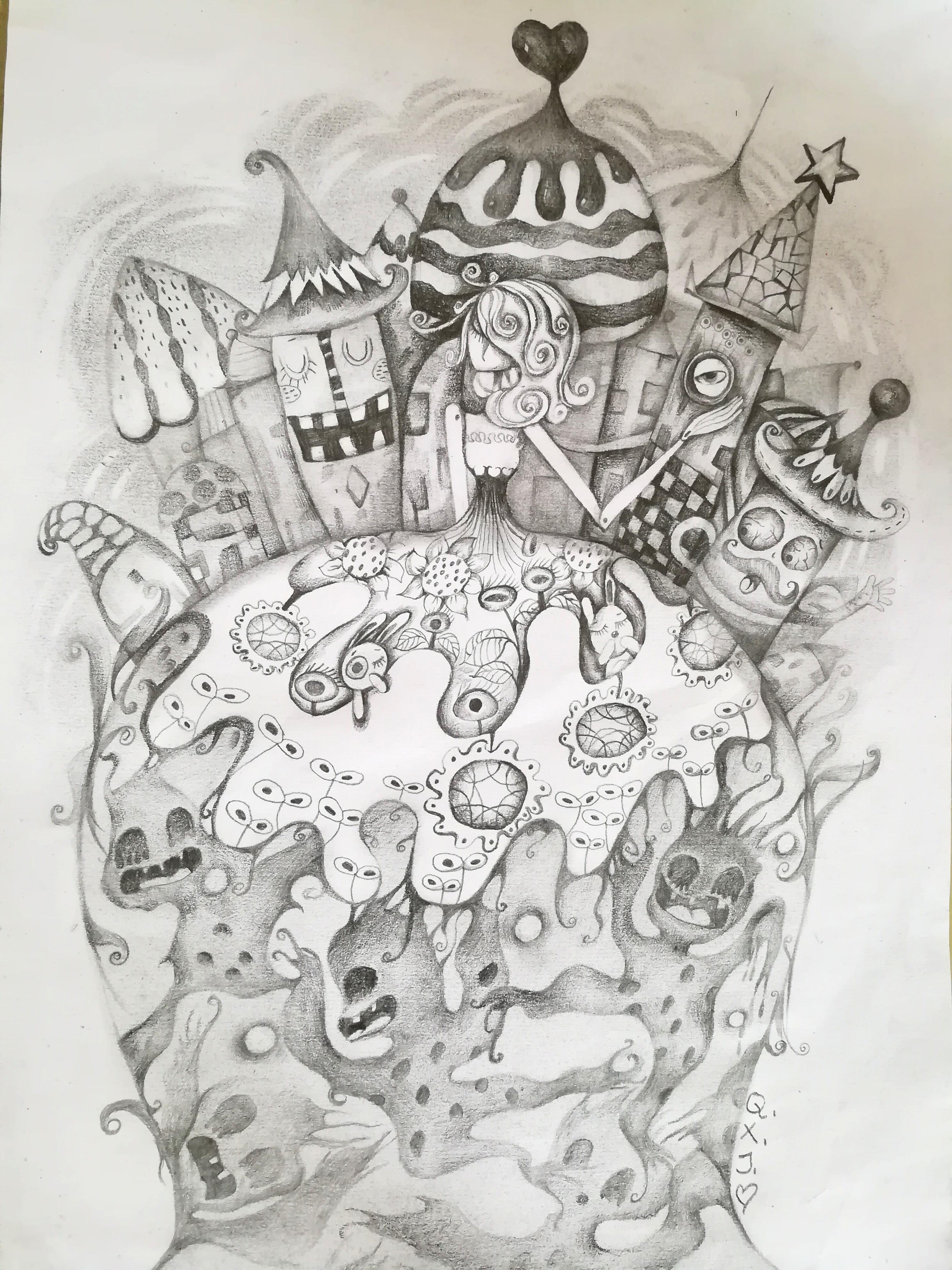 手绘 插画 儿童插画 秋小桔 - 原创作品 - 站酷
