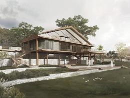 别墅建筑景观规划效果图