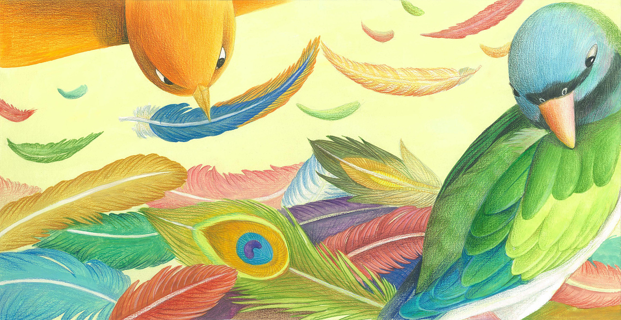 《百鸟朝凤》绘本图片