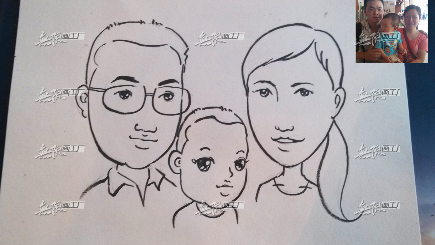 长沙现场手绘漫画 肖像漫画速绘卡通表演开业庆典房地产暖场活动