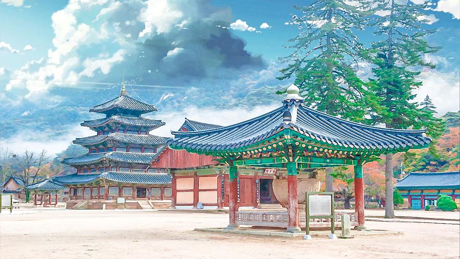 动漫水彩手绘风景插画风格520