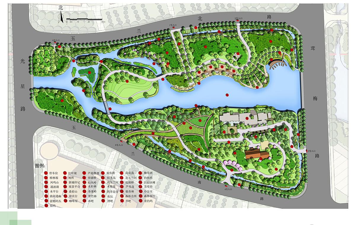 大全景观设计项目公园一层平房设计图农村平面图图片
