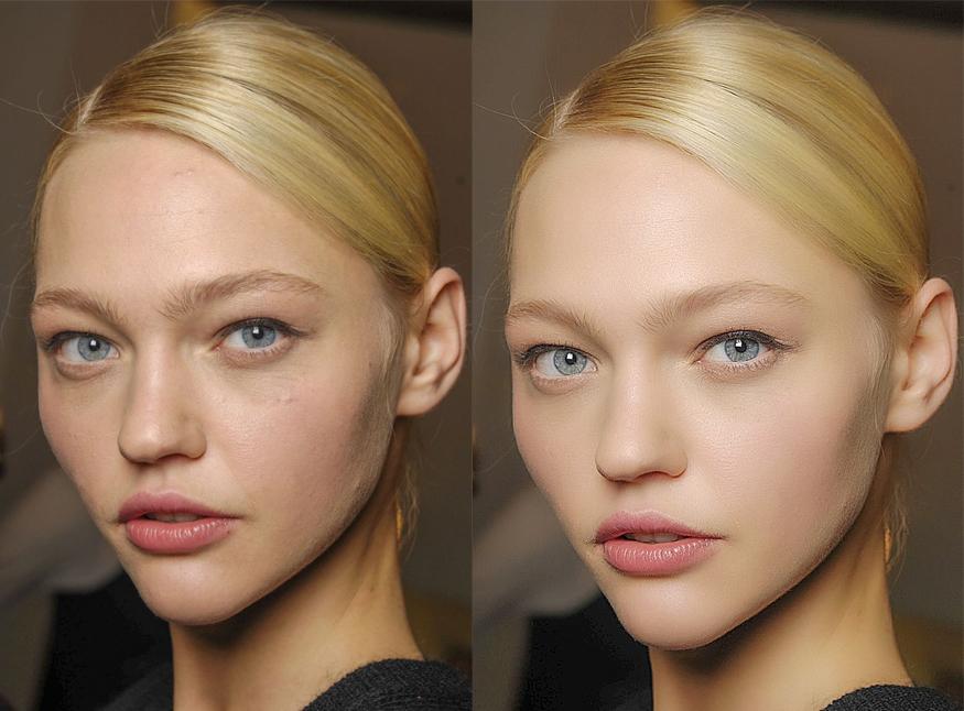 模特皮肤照片后期处理|人像|摄影|泛微