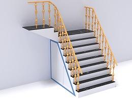 AutoCAD室内设计三维楼梯建模和渲染