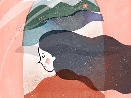 诗歌插画——镜中