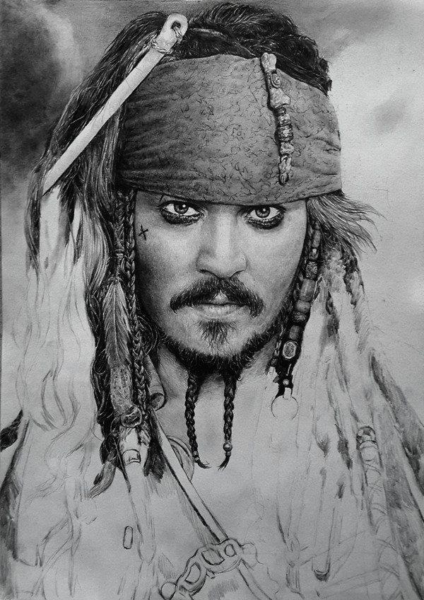 王抽风手绘加勒比海盗杰克船长(附简单过程)