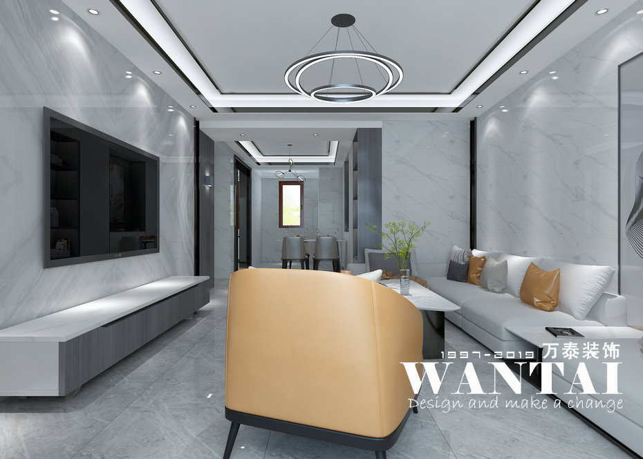 泰安卧龙大观142m经典黑白灰现代风格装修效果图-马彬