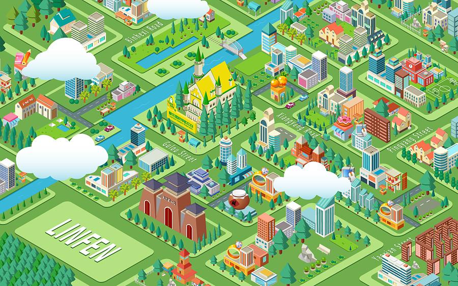 各城市地图原创|景观设计|地产|Czar君-绘制设空间项目景观设计图片