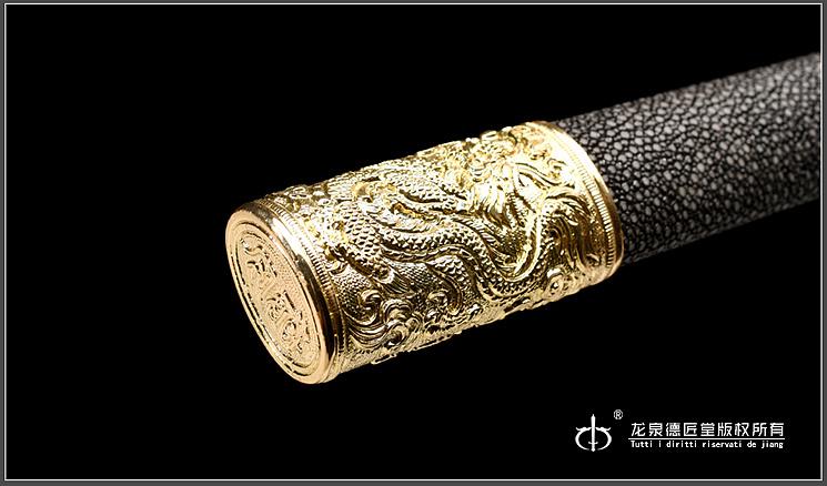 龙泉刀剑-匠运环首刀(dj-3392)