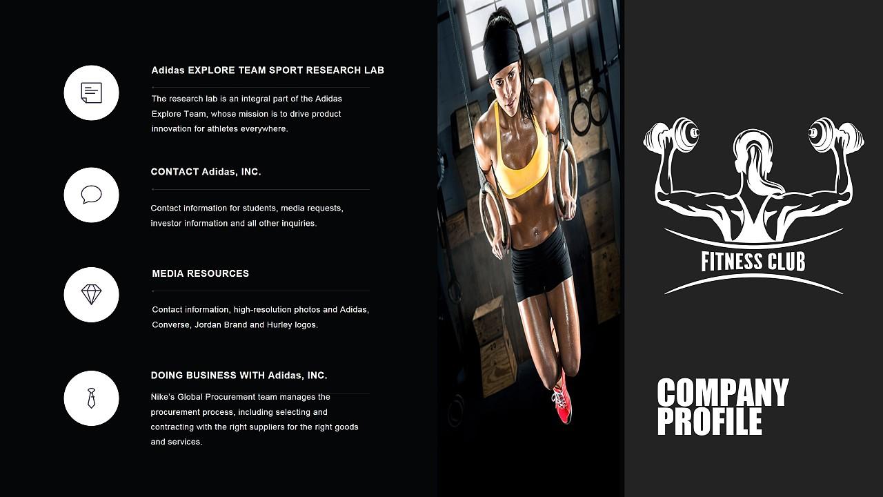 健身房健身器材健身会所品牌宣传企业宣传PP