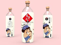 月子酒包装设计 月子米酒 酒水包装 饮品包装 女性产品