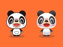 Illustrator卡通熊猫做着玩