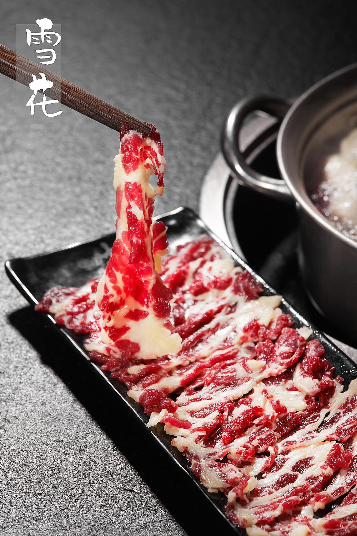 潮汕牛肉火锅菜品摄影