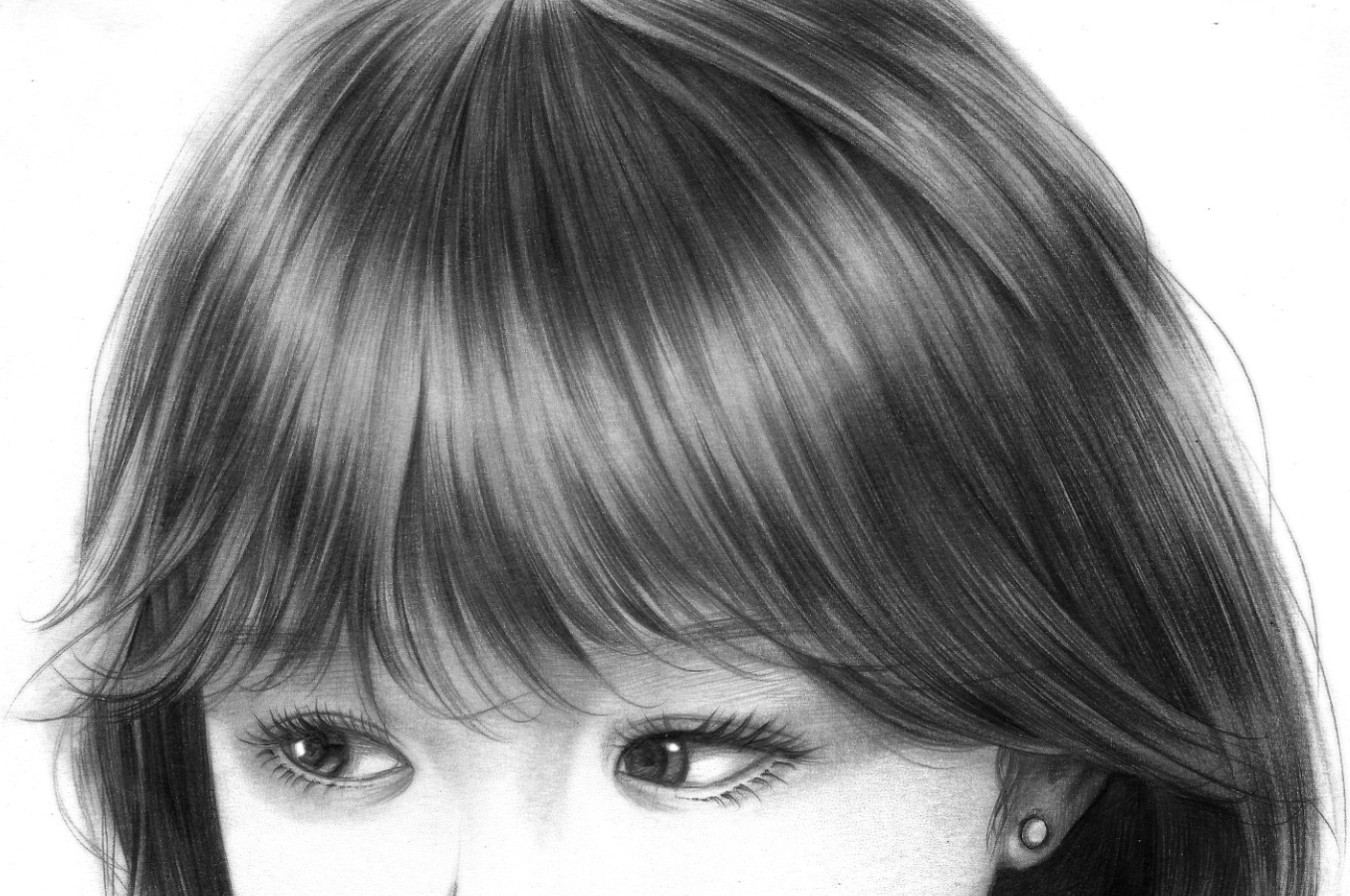 小清新美女一枚 手绘女孩 美女头像铅笔画 漫画女孩