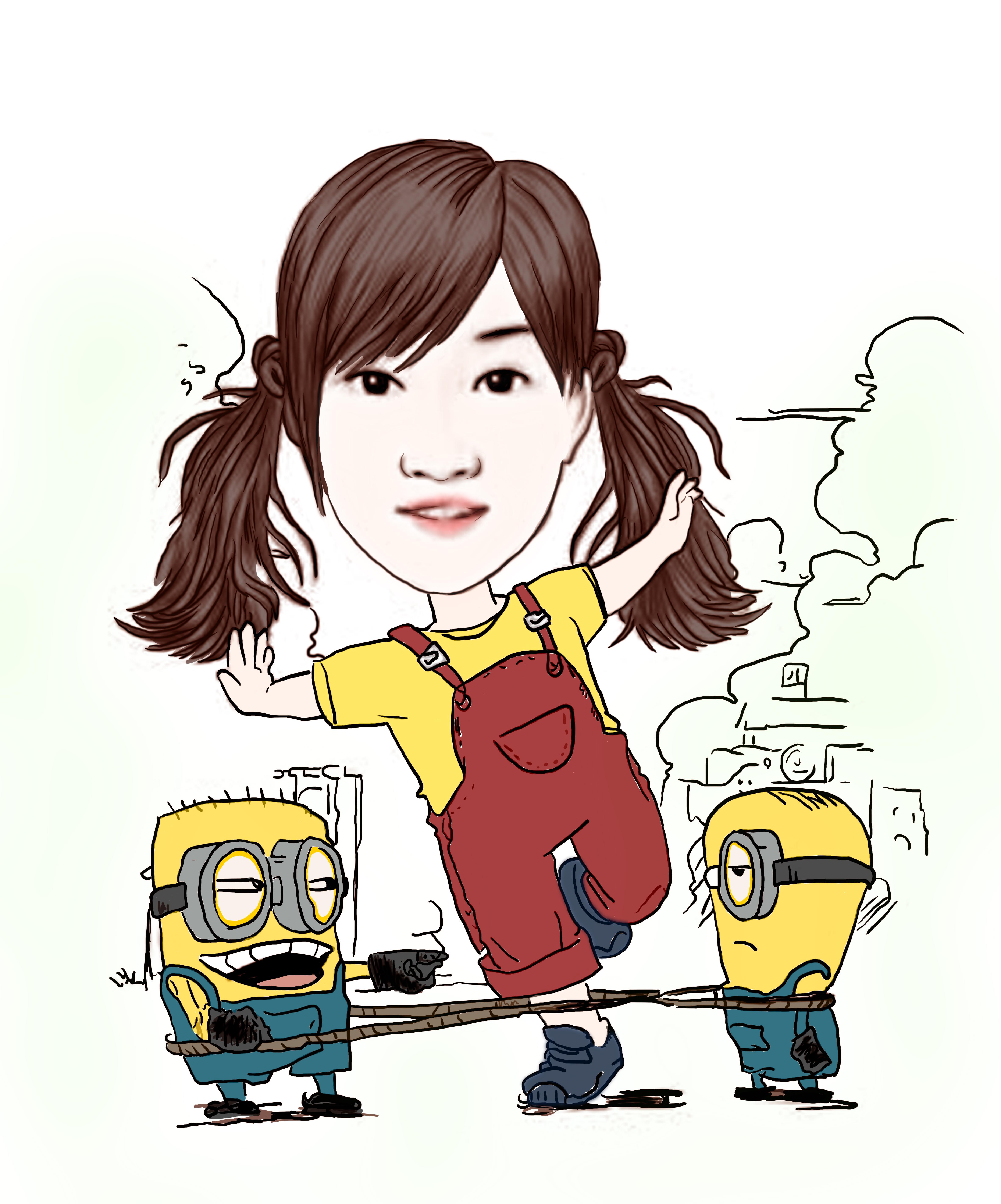 手绘漫画形象 动漫 肖像漫画 岁月靖好 - 原创作品