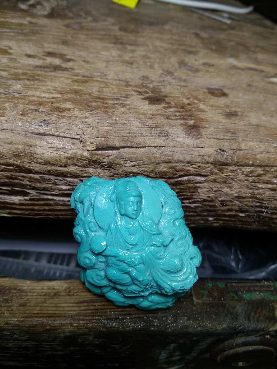 查看《绿松石『竹林观音』》原图,原图尺寸:960x1280