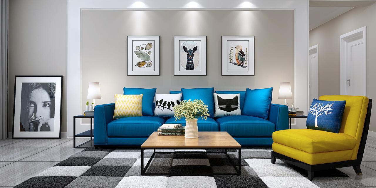 北欧风格小户型 空间 室内设计 lcsk - 原创作品