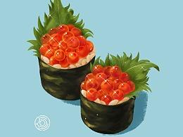 鱼子寿司过程