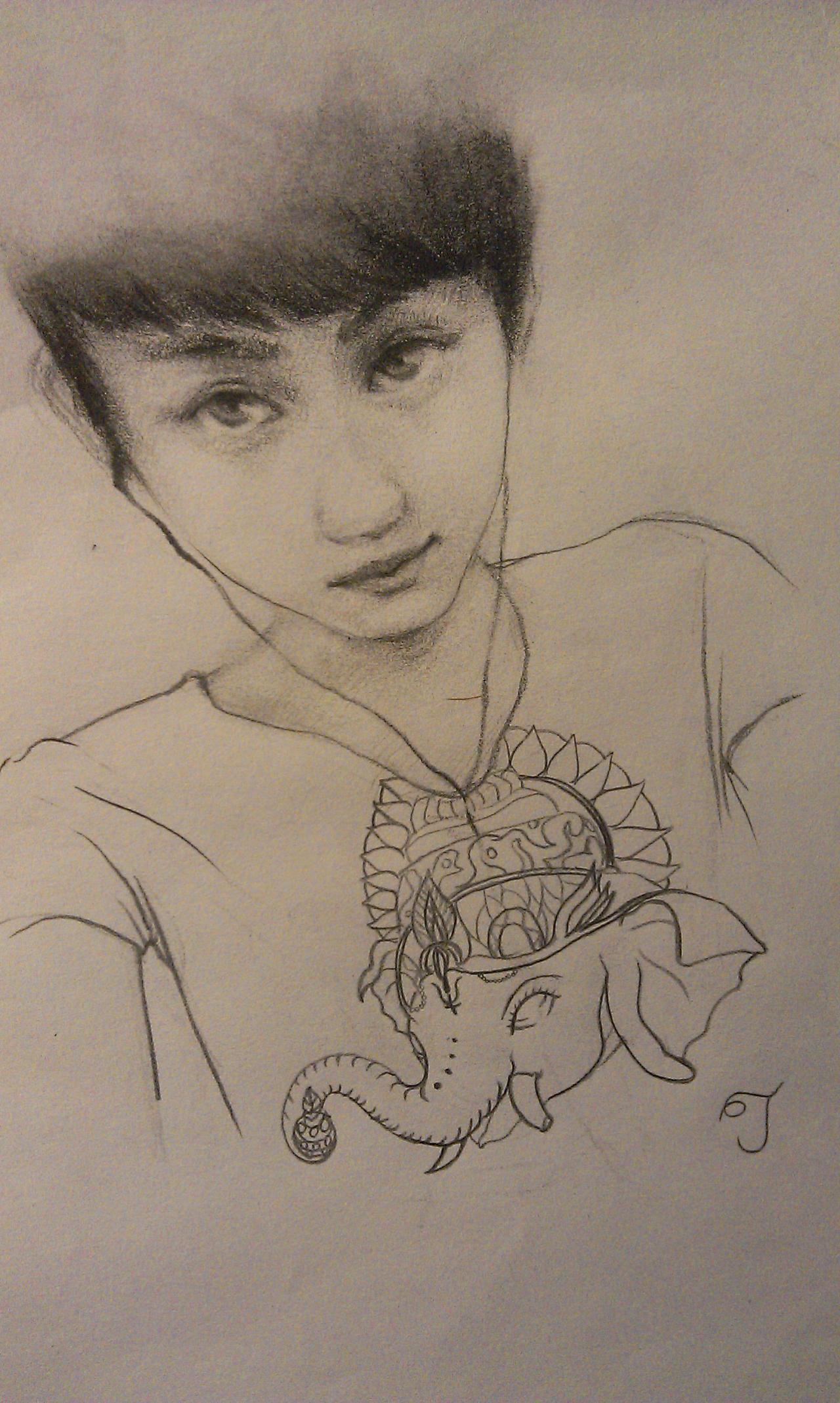 手绘-素描人物