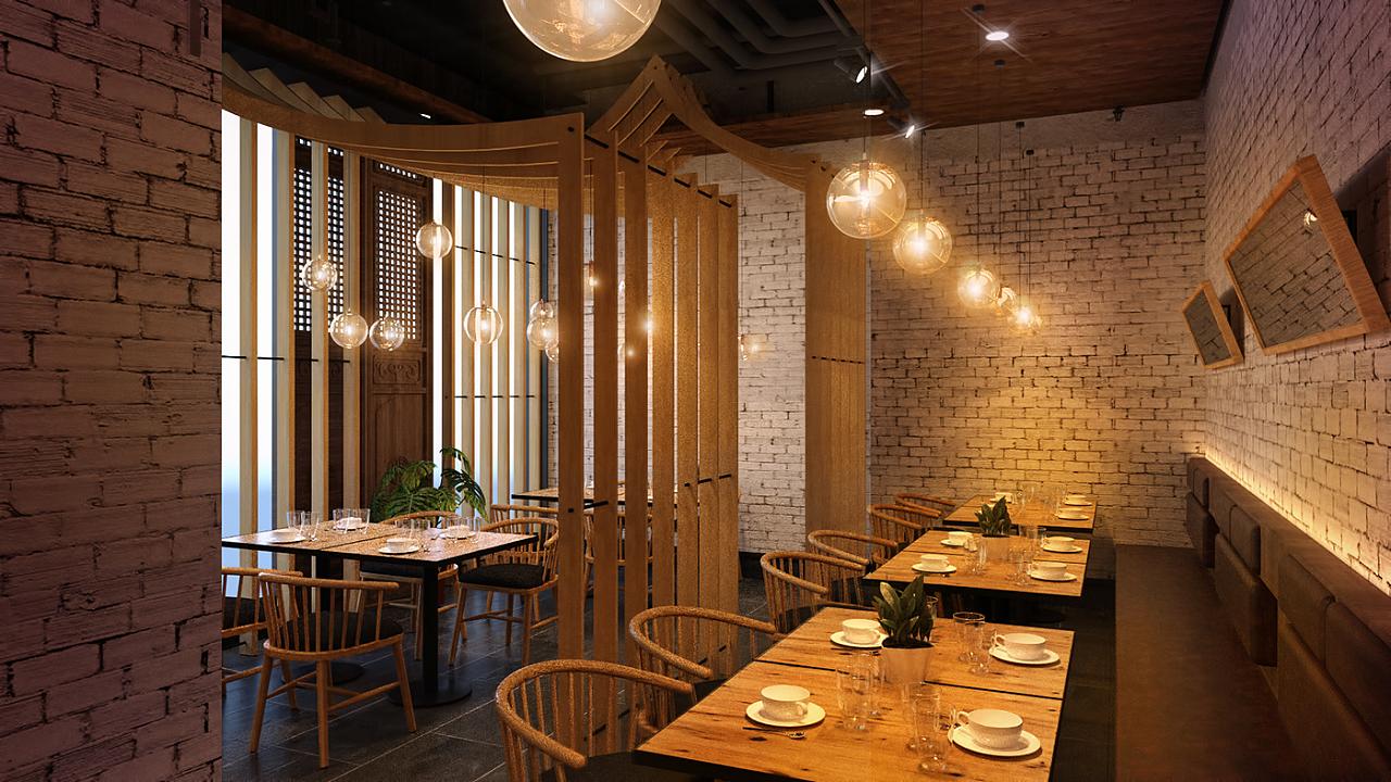 餐饮空间|空间|室内设计|灰色大叔 - 原创作品 - 站酷图片