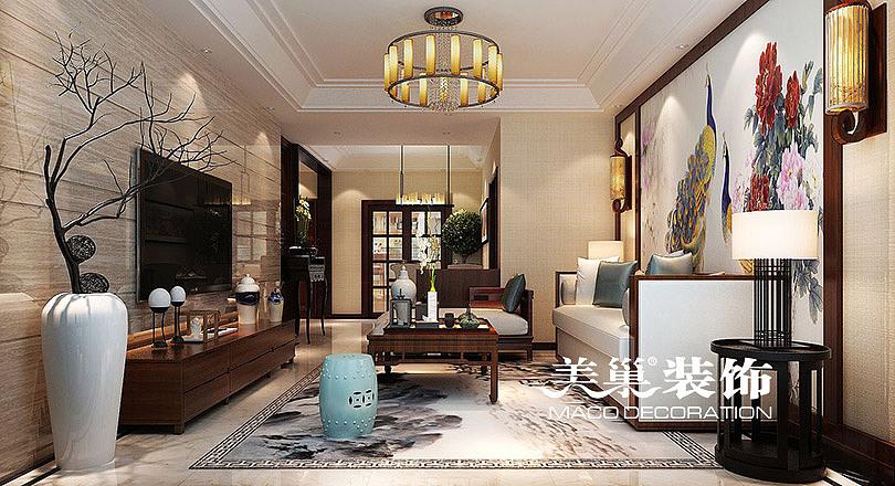 郑州正商新蓝钻 165平 复试新中式 装修效果图鉴赏图片