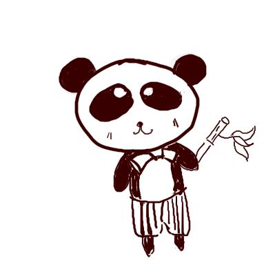 手绘可爱小熊人