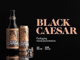 黑凯撒啤酒包装设计