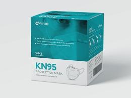 KN95口罩包装设计