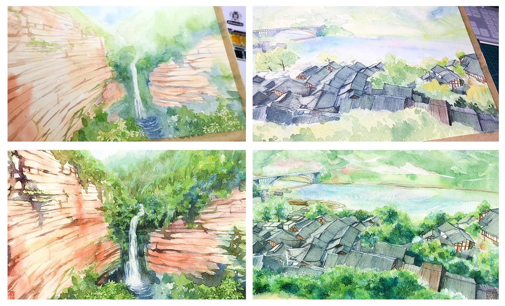 手绘城市系列——《贵州》