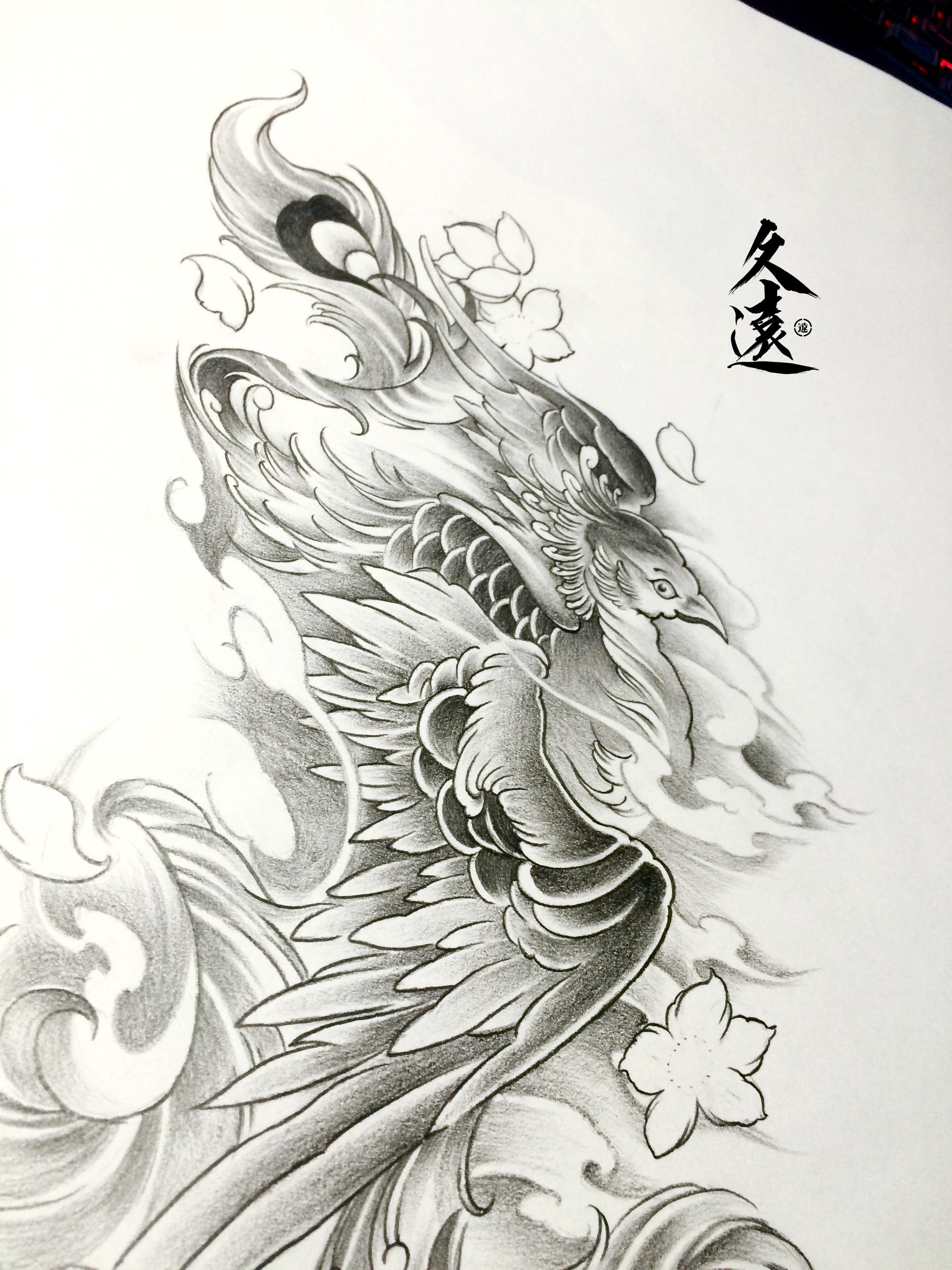 凤凰手绘简笔画