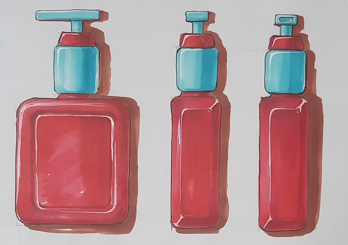 瓶子俯视图手绘